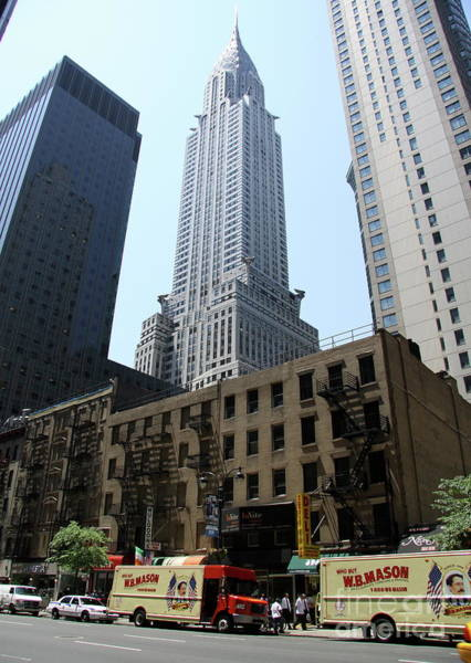 Photograph - Street Scene With Chrysler Building by Christiane Schulze Art And Photography