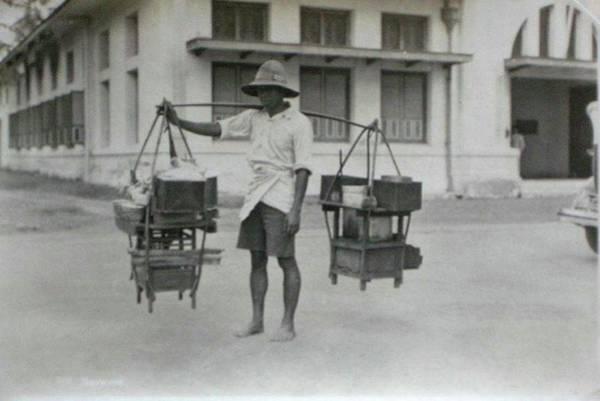 Painting - Street Seller, Batavia, Dutch East Indies. C1930 by Celestial Images