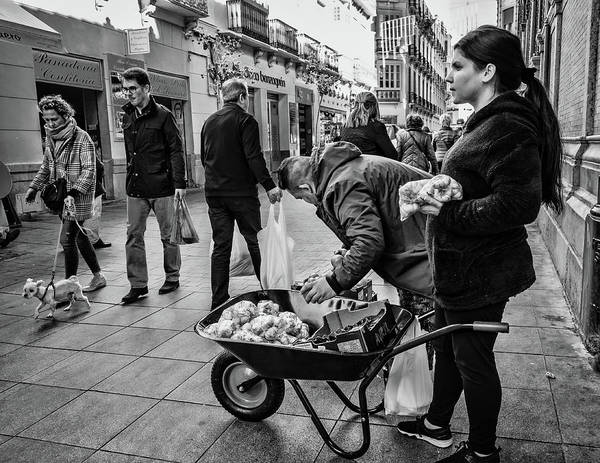 Photograph - Street Sellers by Borja Robles