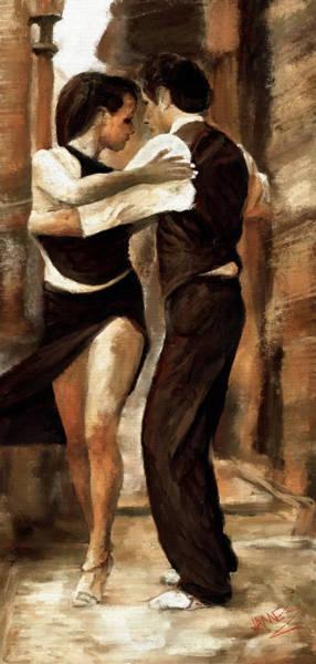 Sultry Digital Art - Street Tango Dancing by James Shepherd