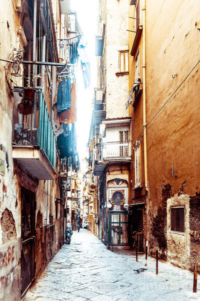 Wall Art - Photograph - Street View Of Old Town In Naples City by Ilolab