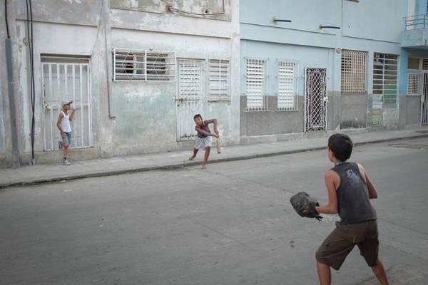 Photograph - Streetball In Havana by Mark Duehmig