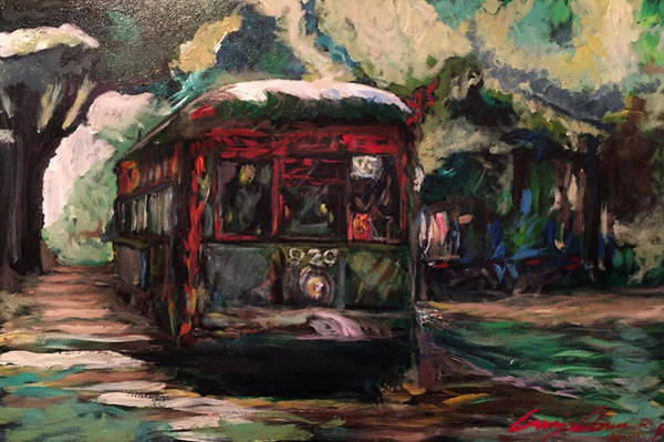Painting - Streetcar  by Amzie Adams