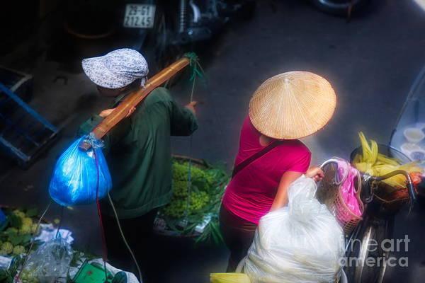 Wall Art - Digital Art - Streets Of Hanoi 2 Of 4 Flare  by Chuck Kuhn
