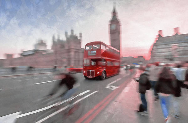 Wall Art - Painting - Streets Of London - 03 by Andrea Mazzocchetti