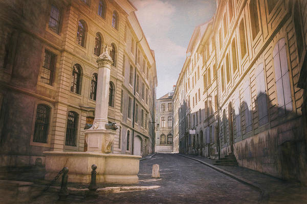 Wall Art - Photograph - Streets Of Old Geneva Switzerland by Carol Japp