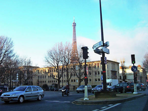 Wall Art - Photograph - Streets Of Paris With Eiffel Tower by Debbie Oppermann