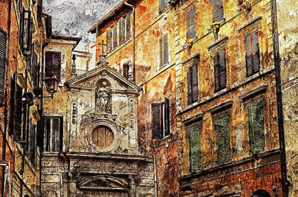 Painting - Streets Of Rome, Through Art And History - 01  by Andrea Mazzocchetti