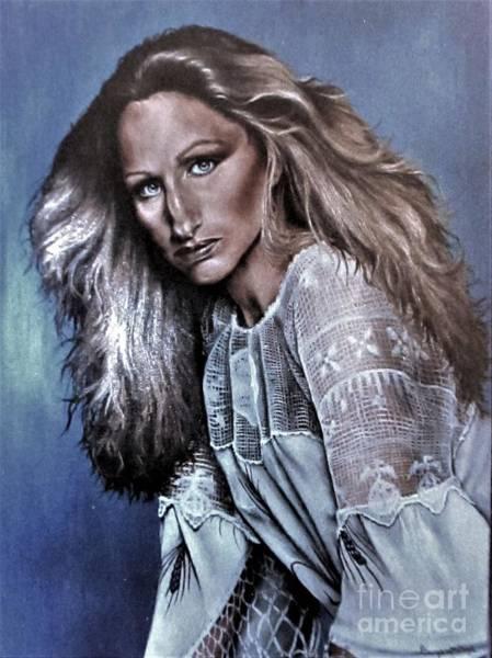 Painting - Streisand by Georgia's Art Brush