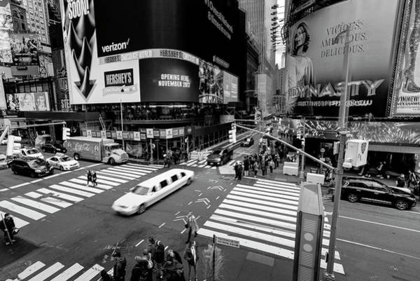 Wall Art - Photograph - Stretch Limousine Times Square by David Pyatt