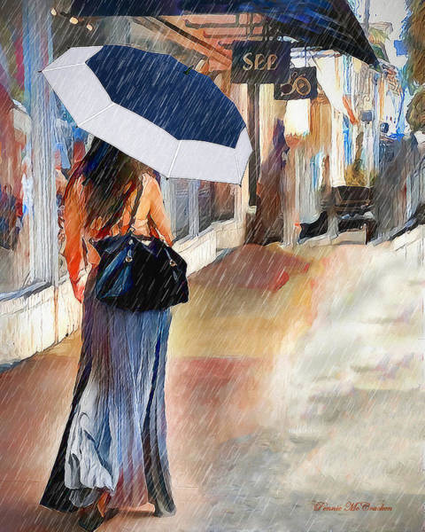 Digital Art - Stroll In The Rain by Pennie McCracken