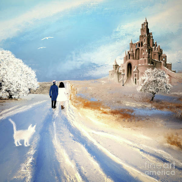 Painting - Stroll Through Winter Fantasy Land by Anne Vis