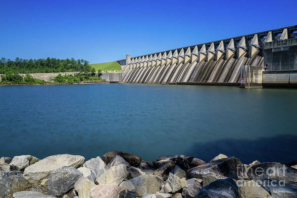 Photograph - Strom Thurmond Dam - Clarks Hill Lake Ga by Sanjeev Singhal