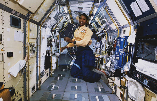 Wall Art - Photograph - Sts-47, Astronaut Jemison In Spacelab by Science Source