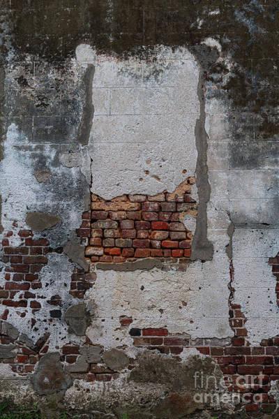 Photograph - Stucco Brick Facade - Historic Charleston by Dale Powell
