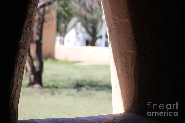 Photograph - Stucco Window With View At Fort Stanton New Mexico by Colleen Cornelius