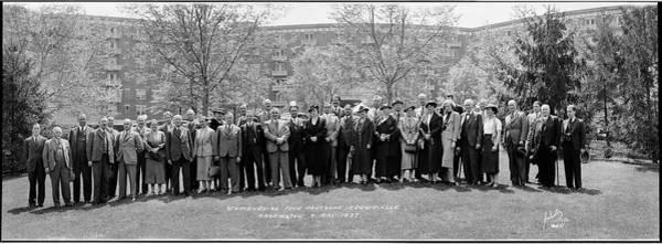 Delegation Photograph - Studienreise Fuer Deutsche by Fred Schutz Collection