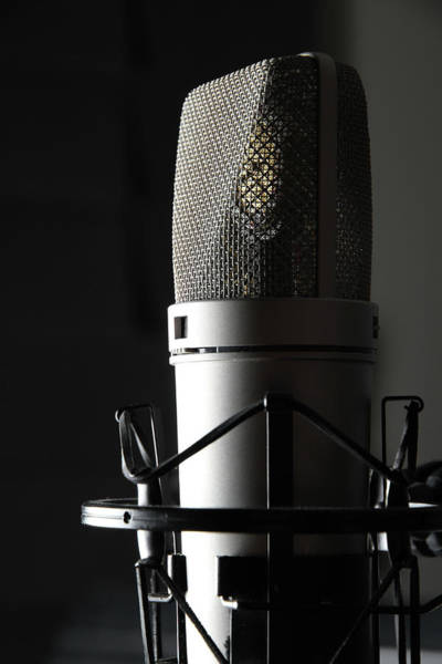 Microphone Photograph - Studio Microphone by Wibs24