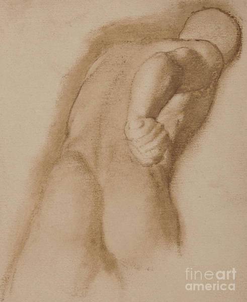 Wall Art - Drawing - Study After Agasias Of Ephesus, Gladiator Borghese by Edgar Degas