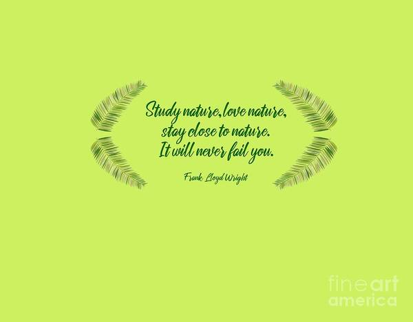 Cursive Photograph - Study And Love Nature - A Quote by L Bee