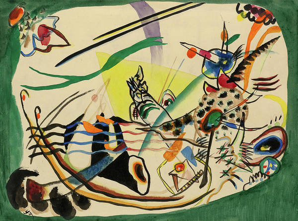 Wall Art - Painting - Study For Green Border, 1919 by Wassily Kandinsky