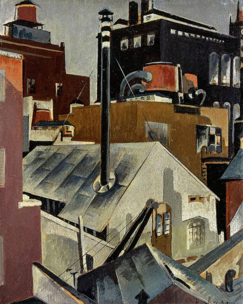 Wall Art - Painting - Study For Industry, 1920 by Preston Dickinson