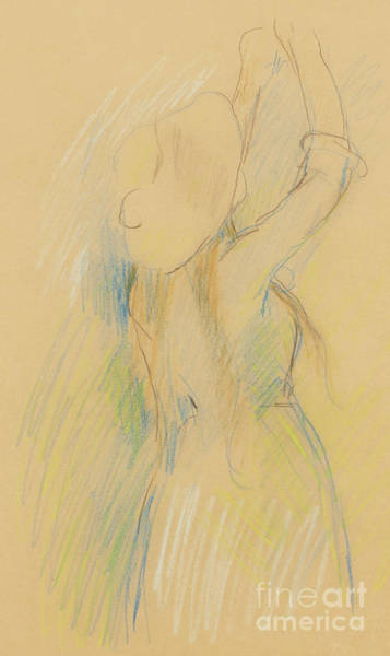 Wall Art - Drawing - Study For Le Cerisier, 1891  by Berthe Morisot