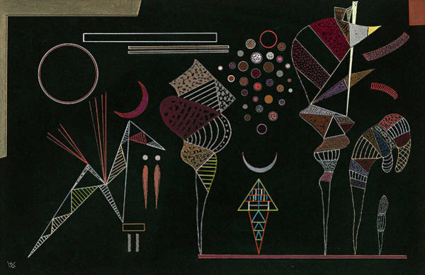Wall Art - Painting - Study For Reduced Contrasts, 1941 by Wassily Kandinsky