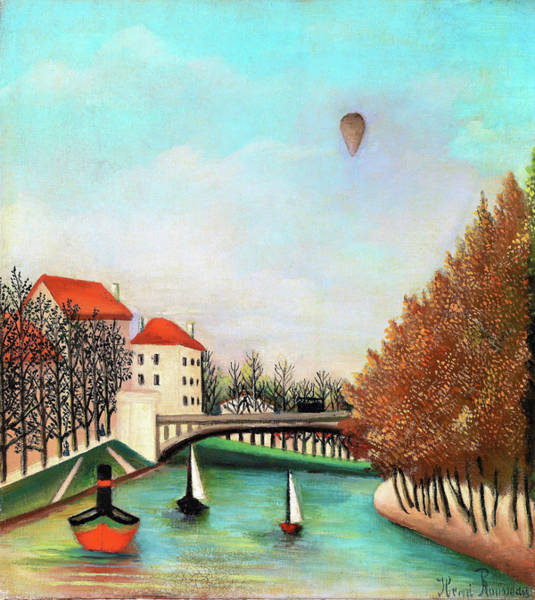 Wall Art - Painting - Study For View Of The Pont De Sevres - Digital Remastered Edition by Henri Rousseau