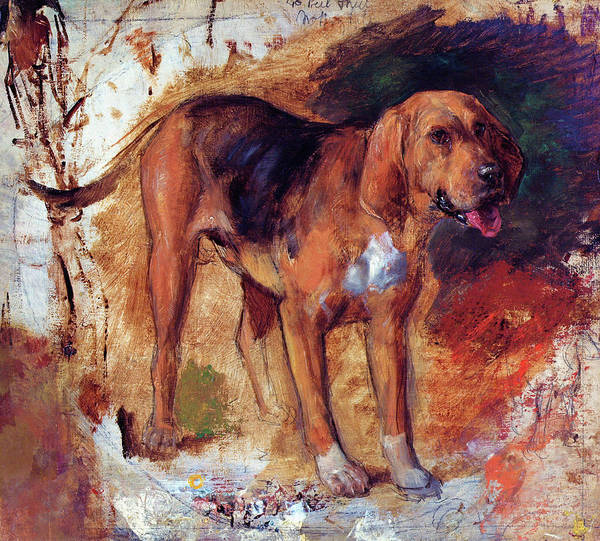 Wall Art - Painting - Study Of A Bloodhound - Digital Remastered Edition by William Holman Hunt