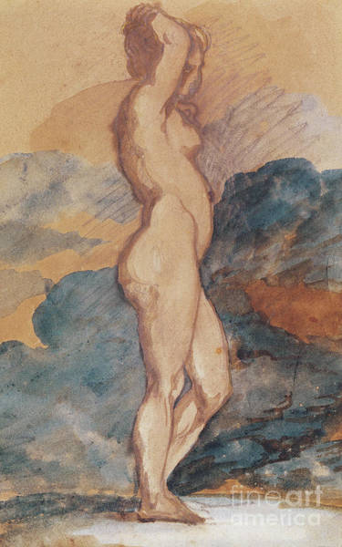 Wall Art - Painting - Study Of A Nude Woman by Theodore Gericault