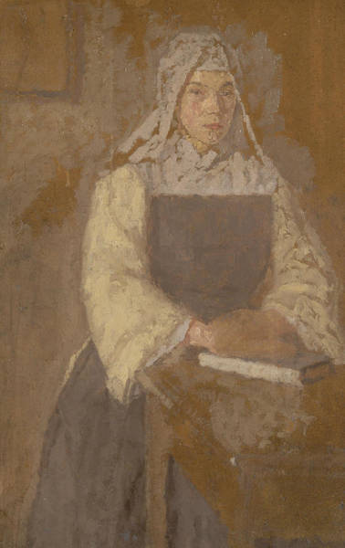 Painting - Study Of A Nun by Gwen John