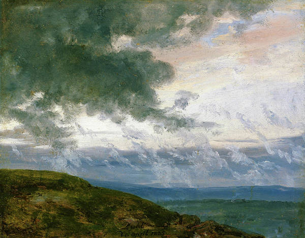 Wall Art - Painting - Study Of Drifting Clouds - Digital Remastered Edition by Johan Christian Dahl