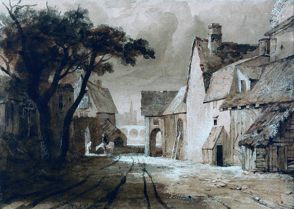 Wall Art - Painting - Study Of Old Buildings - Digital Remastered Edition by Samuel Palmer