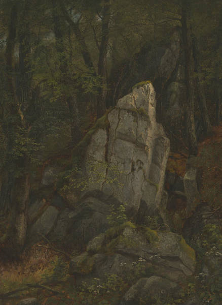 Wall Art - Painting - Study Of Rocks In Pearson's Ravine by Asher Brown Durand