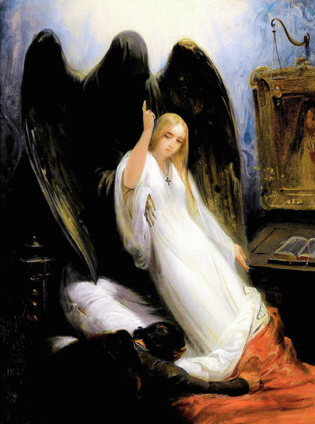 Wall Art - Painting - Study Of The Angel Of Death - Digital Remastered Edition by Horace Vernet