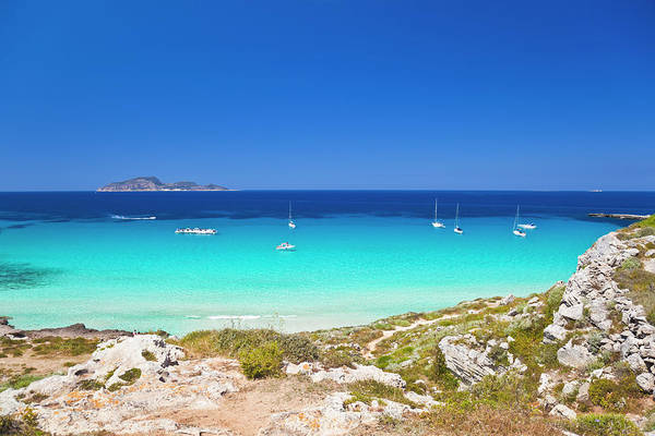 Luxury Yacht Photograph - Stunning Mediterranean Beach View With by Brzozowska