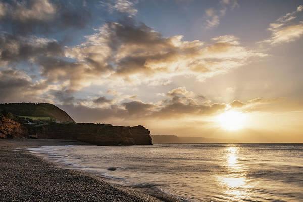 Wall Art - Photograph - Stunning Sunrise Landscape Image Of Ladram Bay Beach In Devon En by Matthew Gibson