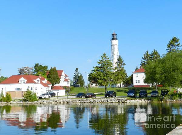 Wall Art - Photograph - Sturgeon Bay Coast Guard Canal Lighthouse by Snapshot Studio