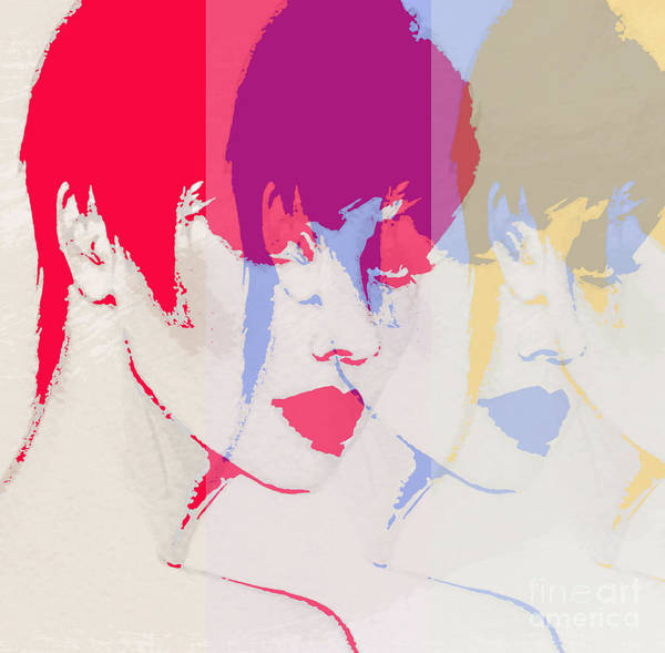Wall Art - Digital Art - Style Woman Portrait. Abstract Fashion by Anna Ismagilova