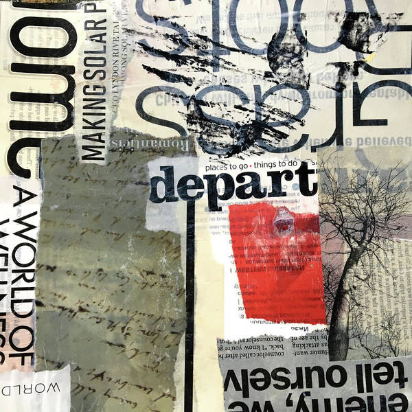 Wall Art - Mixed Media - Subtext No. 1 Collage Art by Nancy Merkle