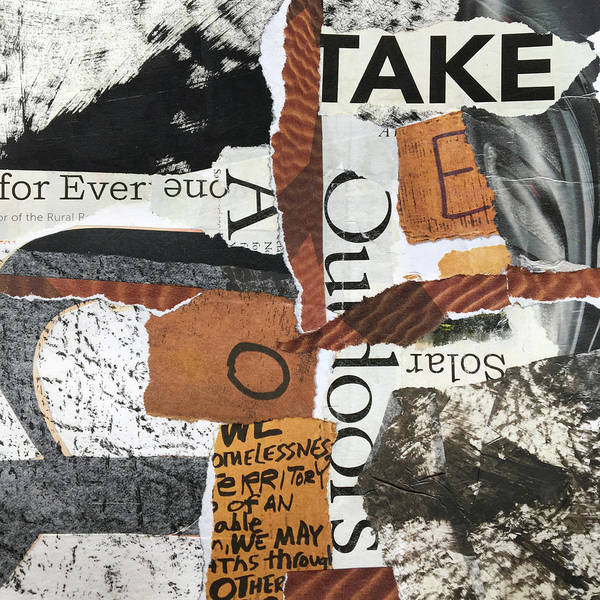 Wall Art - Mixed Media - Subtext No. 4 Collage Art by Nancy Merkle