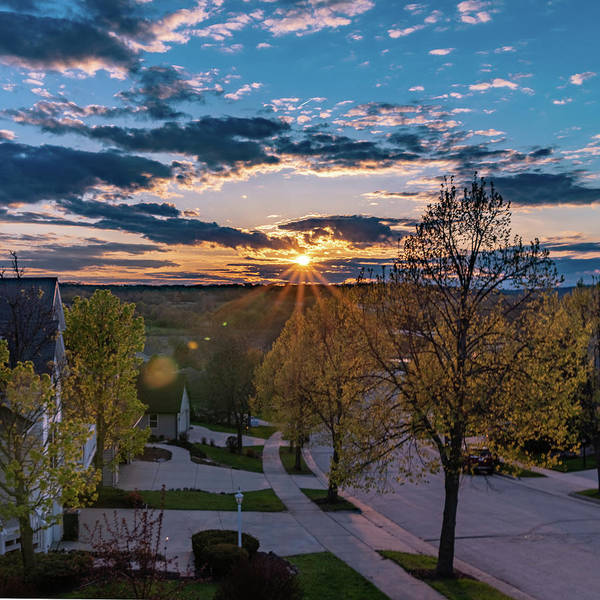 Photograph - Suburban Sunset by Randy Scherkenbach