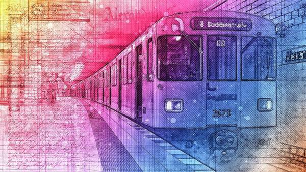 Transporter Wall Art - Digital Art - Subway by ArtMarketJapan