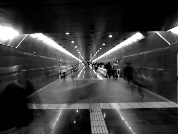 Art Print featuring the photograph Subway Ghosts by Edward Lee