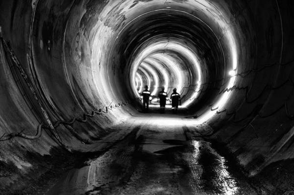 Miners Photograph - Subway, Underground Tunnel Construction by Baranozdemir