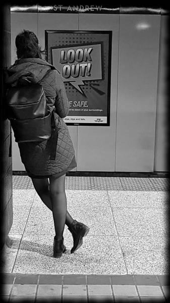 Wall Art - Photograph - Subway Warning by Valentino Visentini