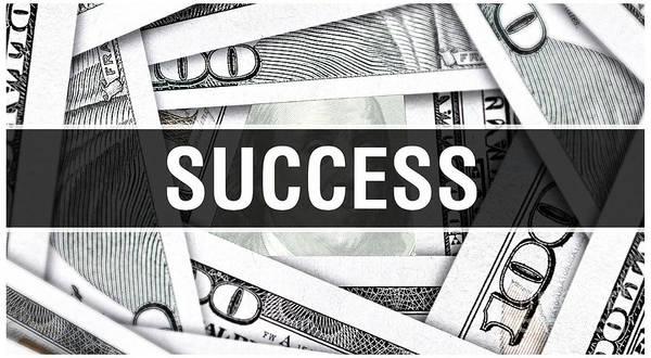 Insurance Digital Art - Success Closeup Concept. American Dollars Cash Money,3d Rendering. Success At Dollar Banknote by Borka Kiss