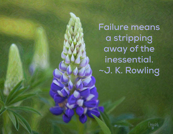 Digital Art - Success Via Failure - Motivational Flower Art By Omaste Witkowski by Omaste Witkowski