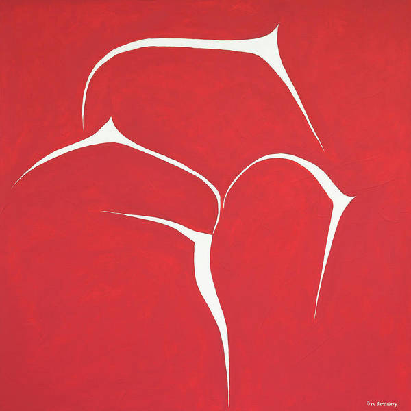 Painting - Succulent In Red by Ben Gertsberg